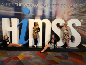 ARPR team members at HIMSS - a key event for healthcare marketers.